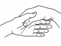 Hands holding Palm